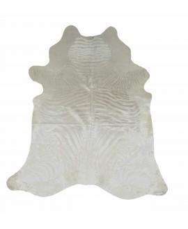 Koeienhuid met zilveren zebraprint
