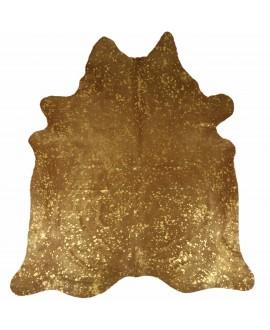 Koeienhuid beprint met metallic goud kleurige vlekken