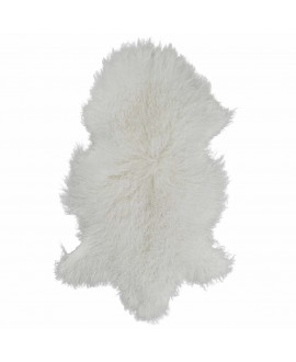 Tibetaans schapenvacht in het wit