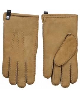 Lamsvacht Heren Handschoen in Camel Kleur
