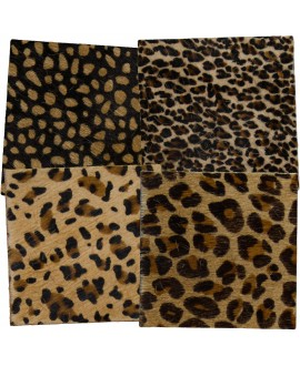Cowhide Coasters Square