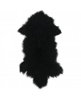 Tibetaans schapenvacht in het zwart