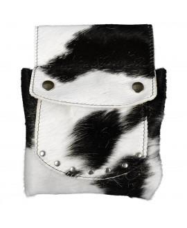 Cowhide Belt Pouch - Black...