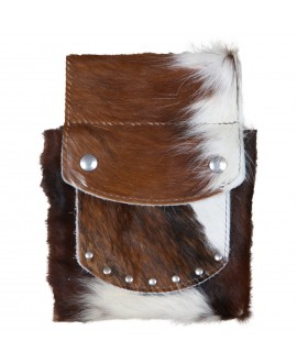 Cowhide Belt Pouch -...