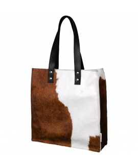 Cowhide Shopper - Spotted
