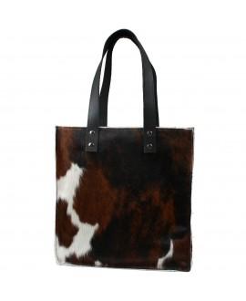 Cowhide Handbag - Tricolour